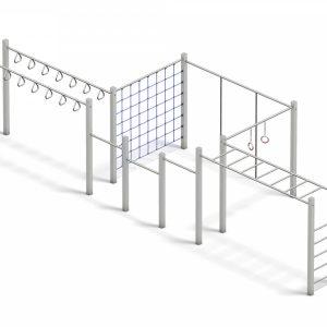 Estructura gimnástica de trepa para niños