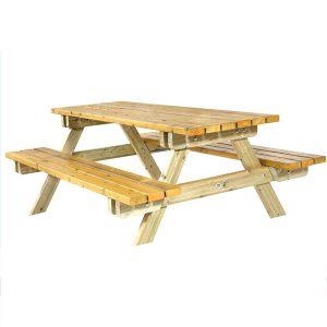 Mesa picnic madera listones